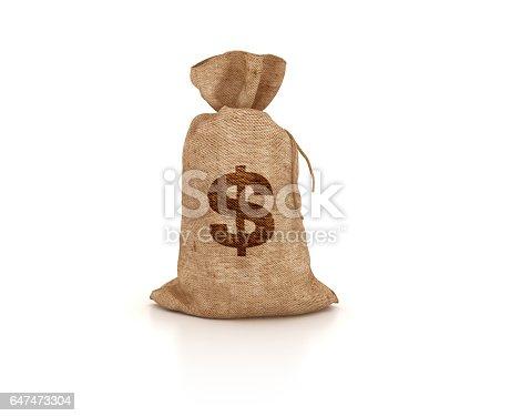 872222012istockphoto Money Sack of Dollars - 3D Rendering 647473304