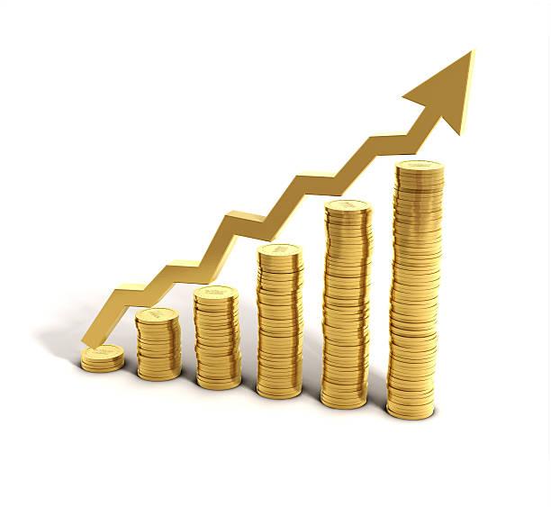 Money Saving Graph stock photo