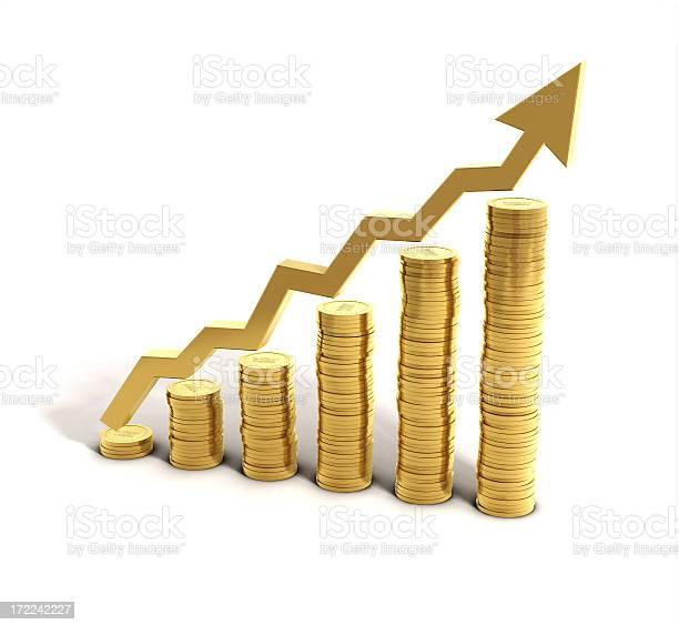 Money Saving Graph Stock Photo - Download Image Now