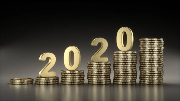 Money Saving in 2020 stock photo