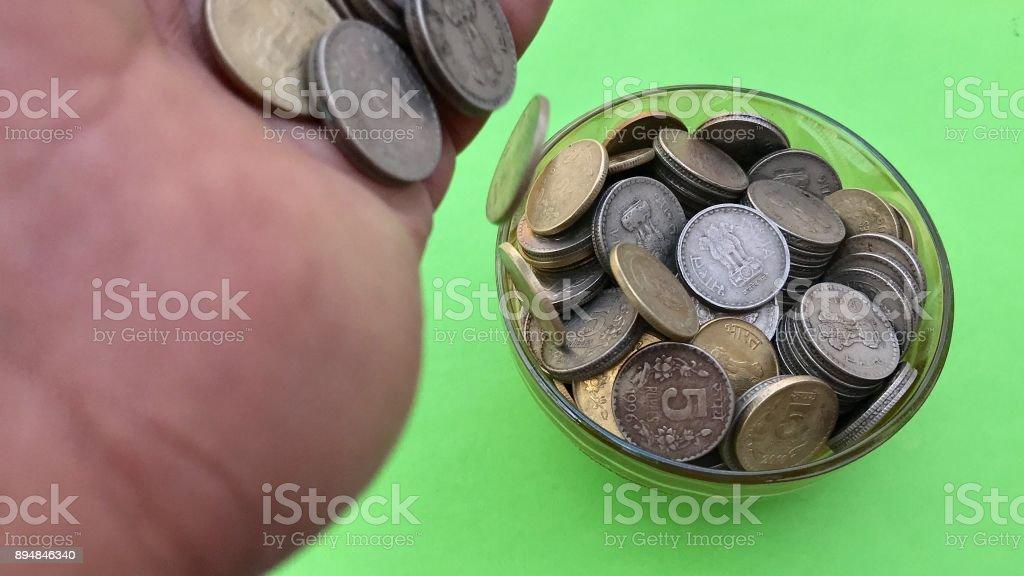 Money savings at home stock photo