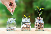 istock Money savings, investment, making money for future, financial wealth management concept. 1130326185