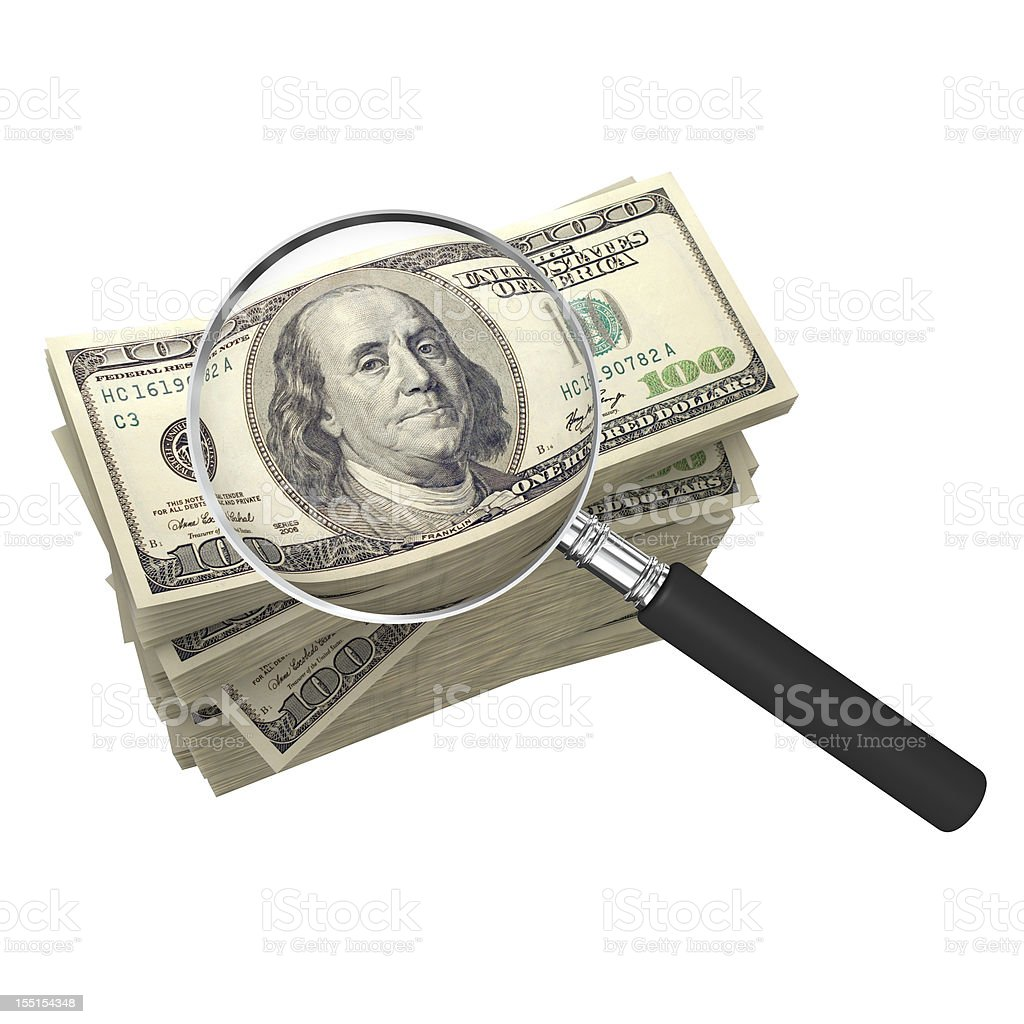 Money Search royalty-free stock photo