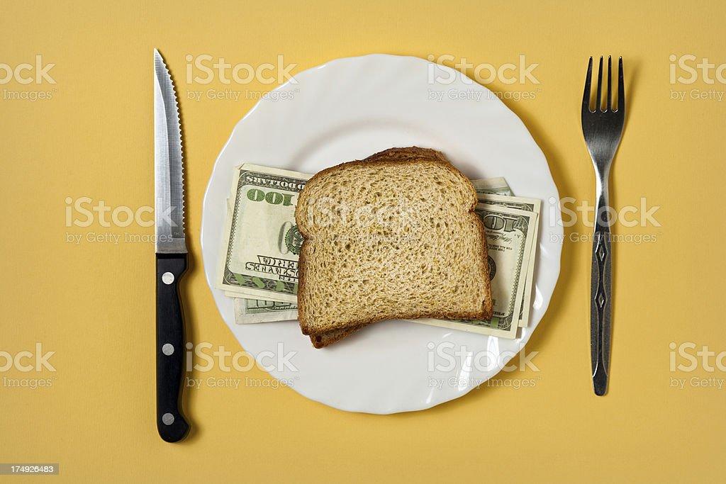 Money sendwich royalty-free stock photo