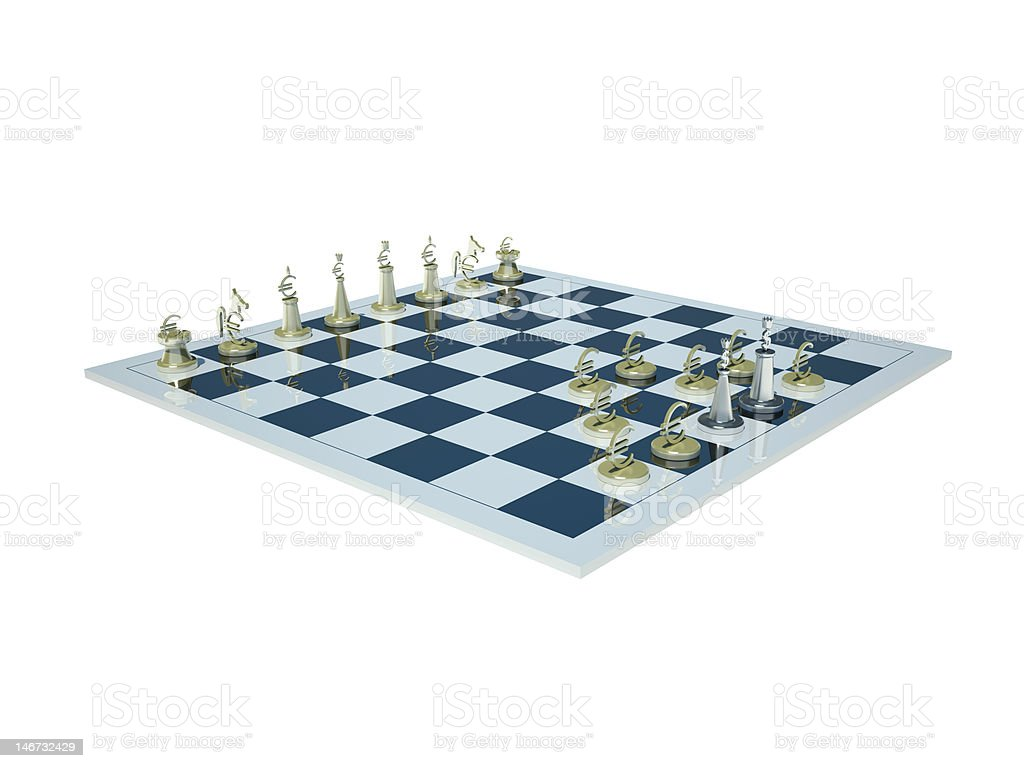 Money sign chess. Check and checkmate royalty-free stock photo