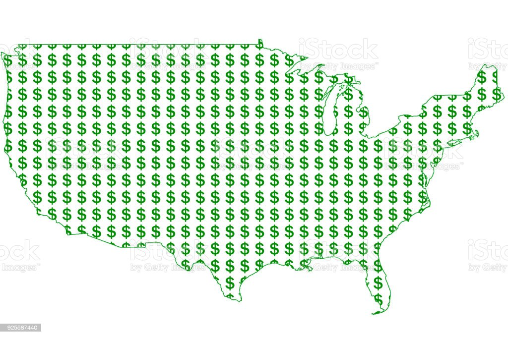 Money Signs On A United States Map Stock Photo - Download ... on puerto rico dollar, kelsey dollar, bajan dollar, technology dollar, australia's dollar, singapore dollar, canadian dollar, snowflake dollar, 2014 us dollar, lizzie dollar, laos dollar, new taiwan dollar, us treasury dollar, professional dollar, world trade dollar, ruble dollar, us hundred dollar, argentine dollar, new zealand dollar, botswana dollar,