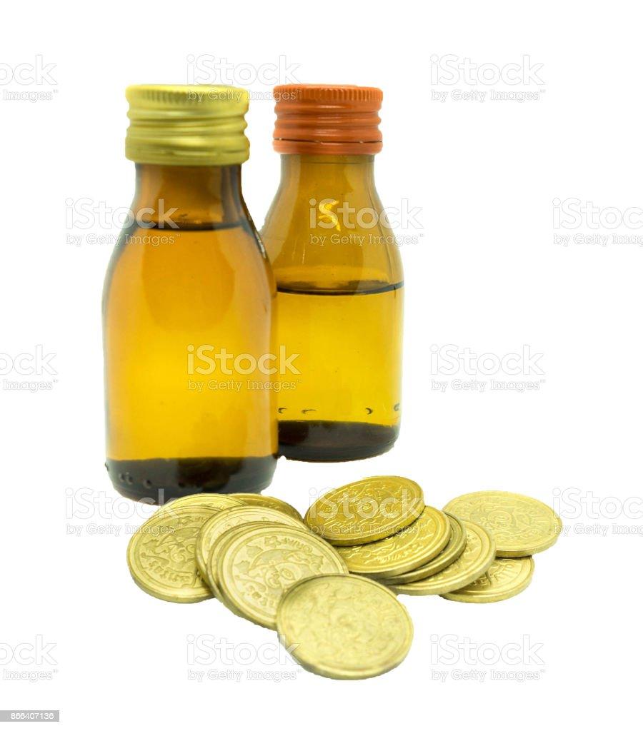 Money spend to healthcare stock photo