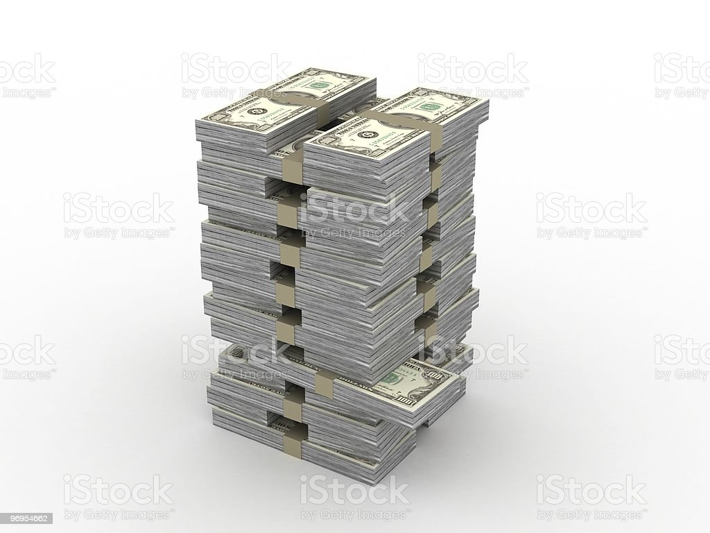 Money Stack Tower royalty-free stock photo