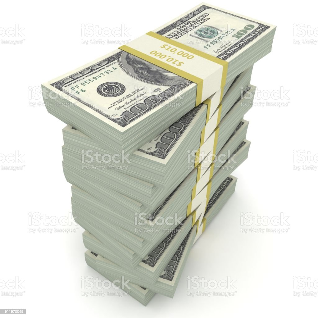 Geld Stapeln uns Dollar Finanzierung Kredit – Foto