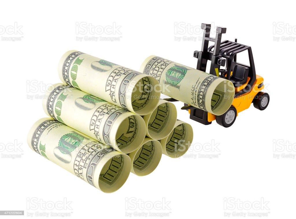 Money stacking royalty-free stock photo