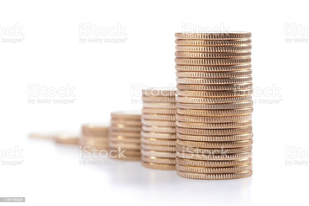 money stairs royalty-free stock photo