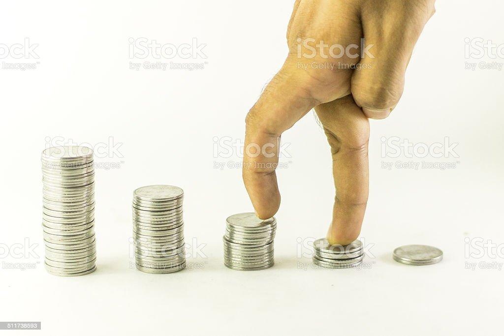 Money stairs stock photo
