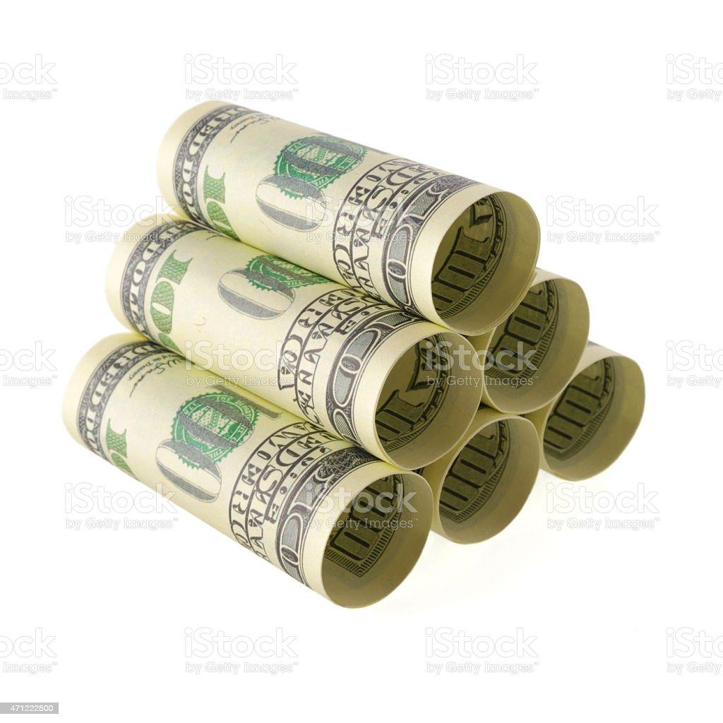 Money storage pile stock photo