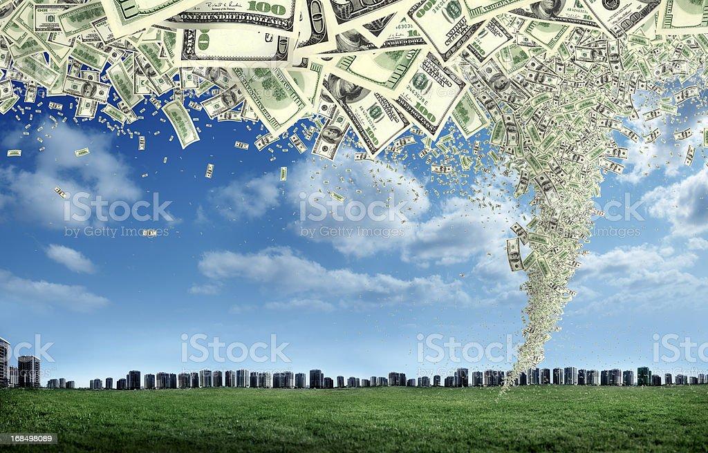 money storm royalty-free stock photo