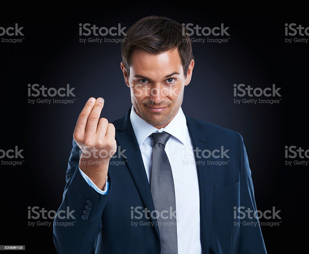 Money talks stock photo