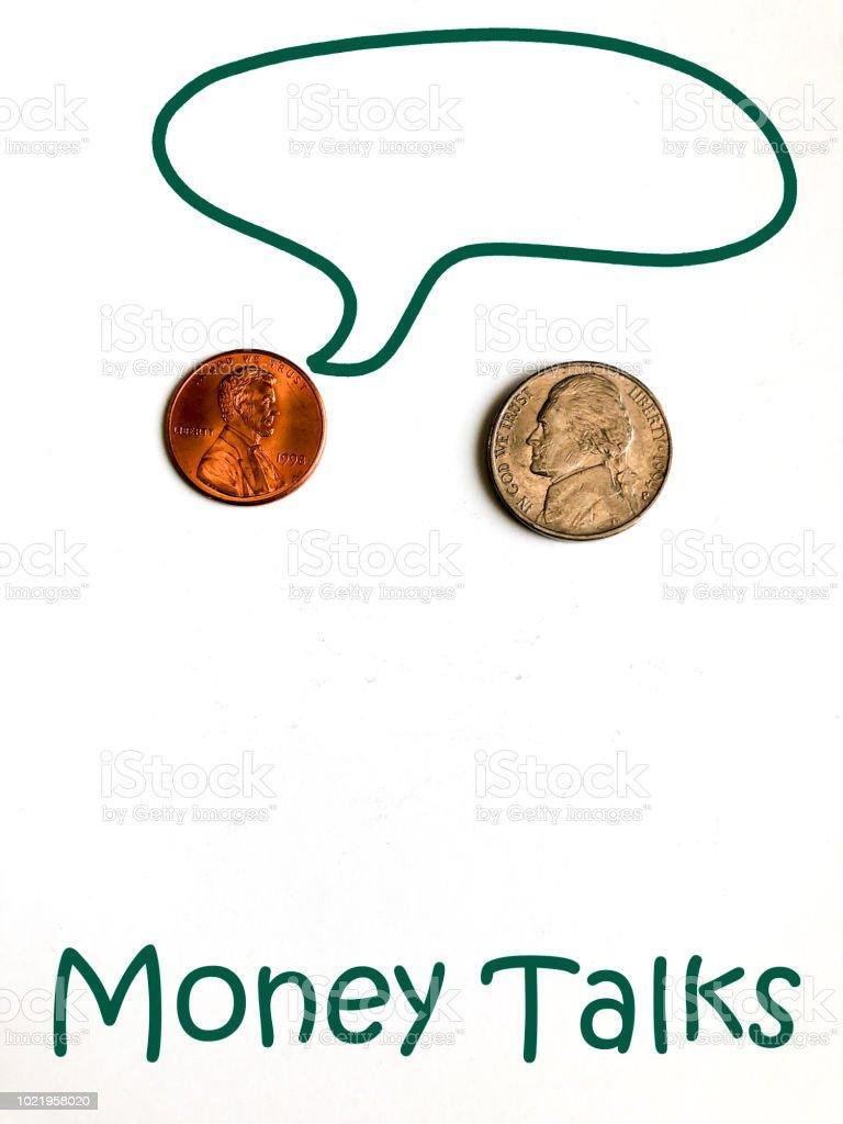 Money Talks Series stock photo