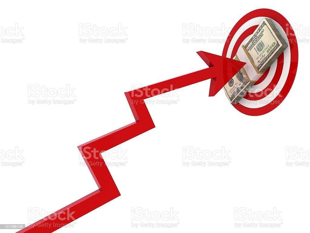 Money Target royalty-free stock photo