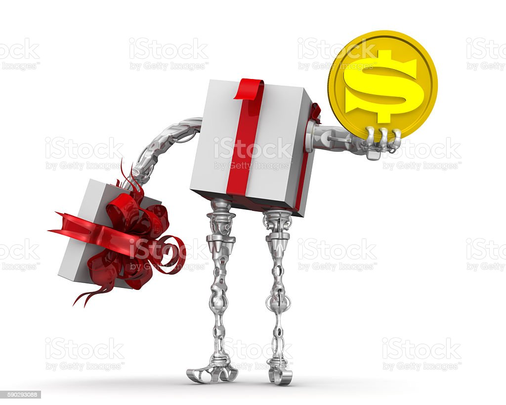 Money - the best gift. Concept with the US dollarMoney - the best gift. Concept with the US dollar stock photo