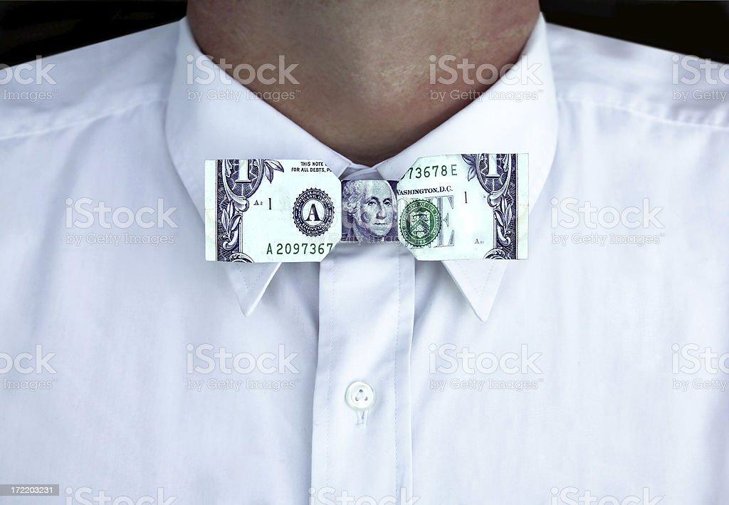 money tie royalty-free stock photo