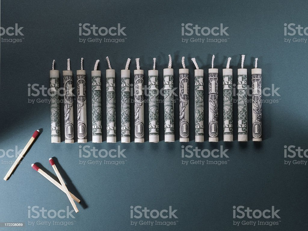Money to Burn. stock photo