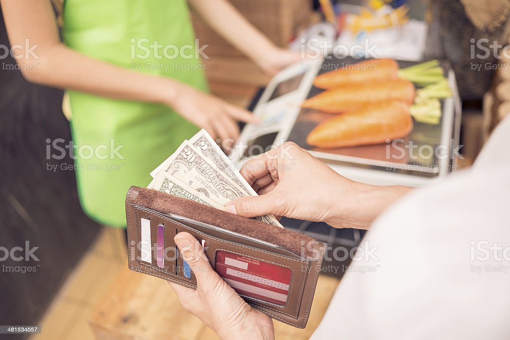 Money to pay stock photo