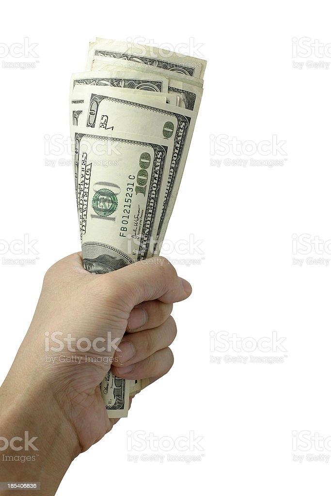 Money Torch royalty-free stock photo