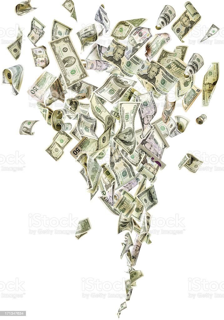 Money tornado stock photo