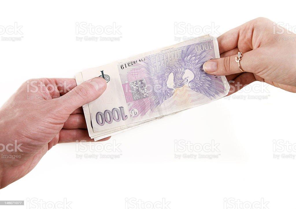 Money transfer stock photo