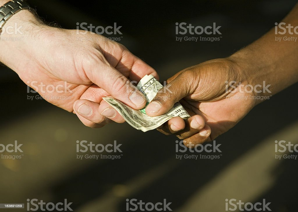 Money transfer stock photo
