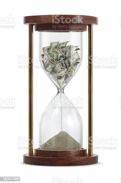 Money Transform In Hourglass Stock Photo - Download Image Now