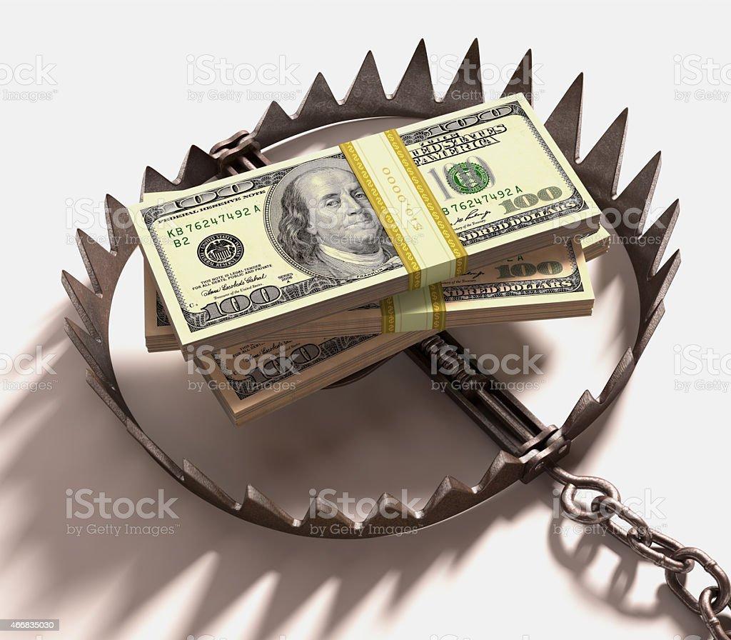 Money Trap stock photo