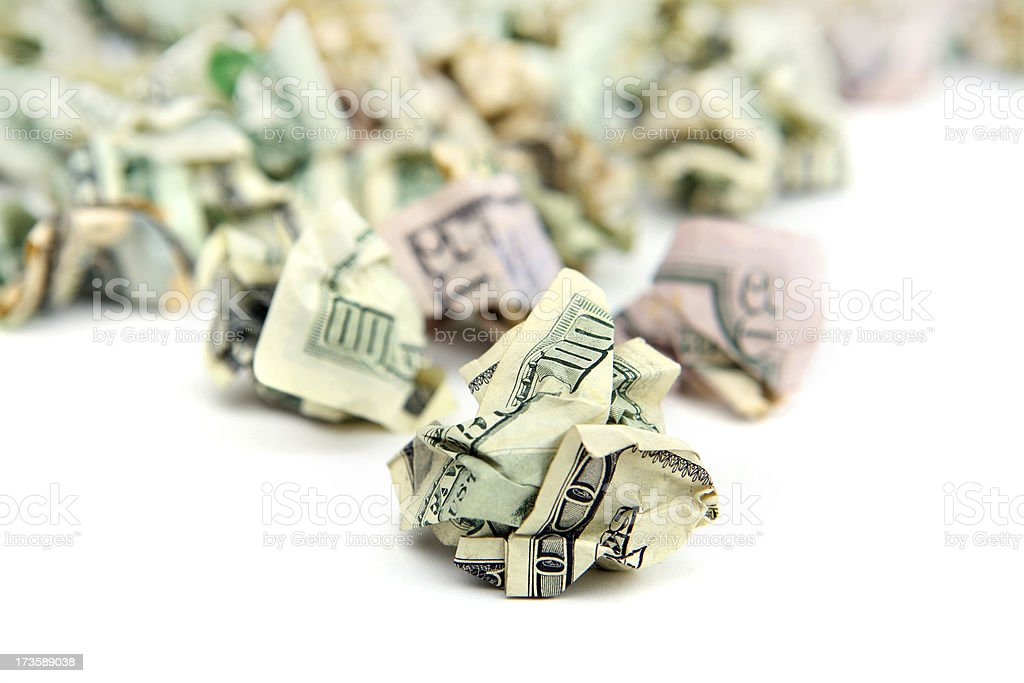 Money Trash royalty-free stock photo