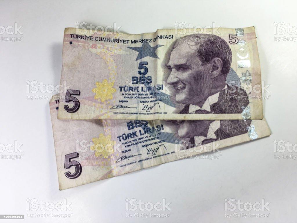 para Türk Lirası arka plan ünitesi izole stok fotoğrafı