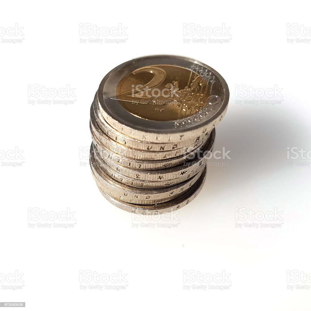 Money, two, Euro stock photo