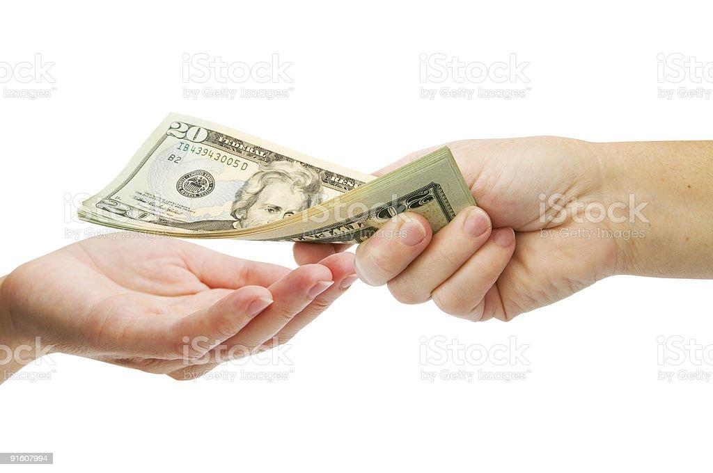 Money US Dollars royalty-free stock photo