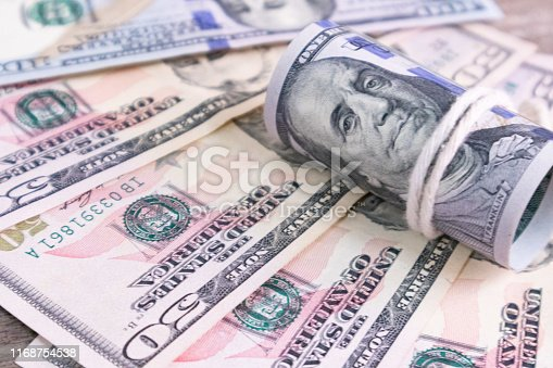 istock Money USA dollar banknotes for background.Money is any item or verifiable record that is generally accepted as payment for goods and services and repayment of debts 1168754538
