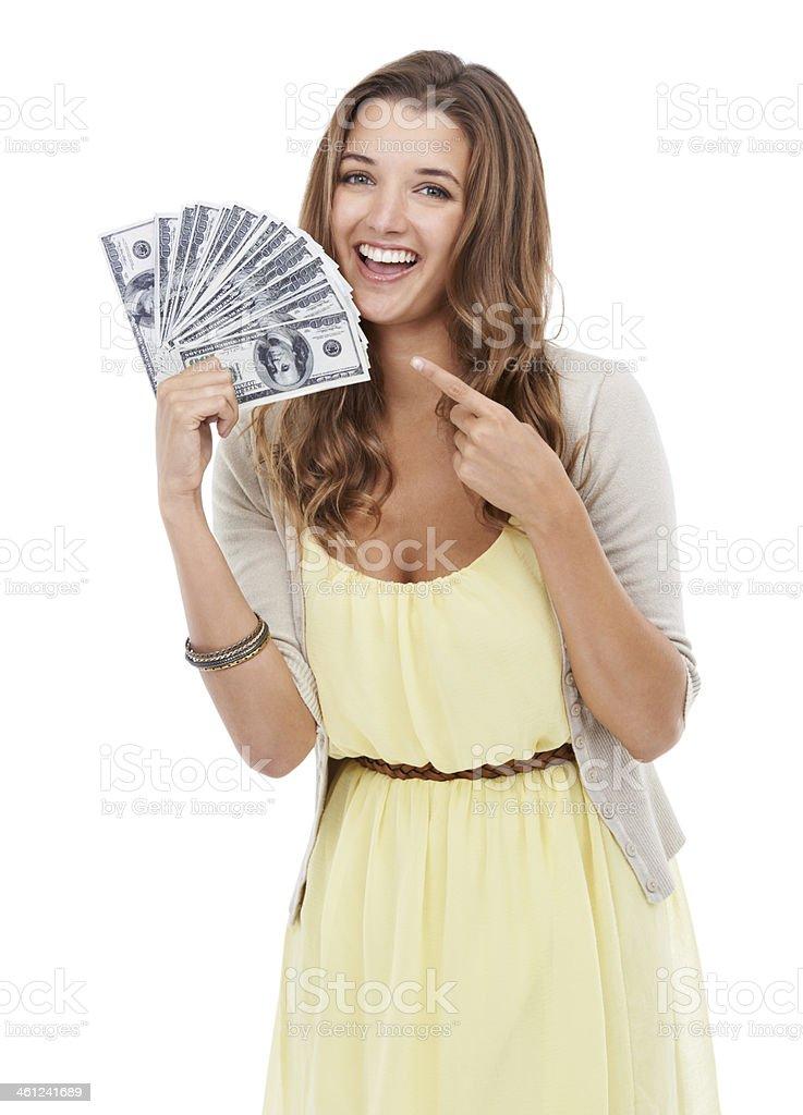 Money waiting to be spent stock photo
