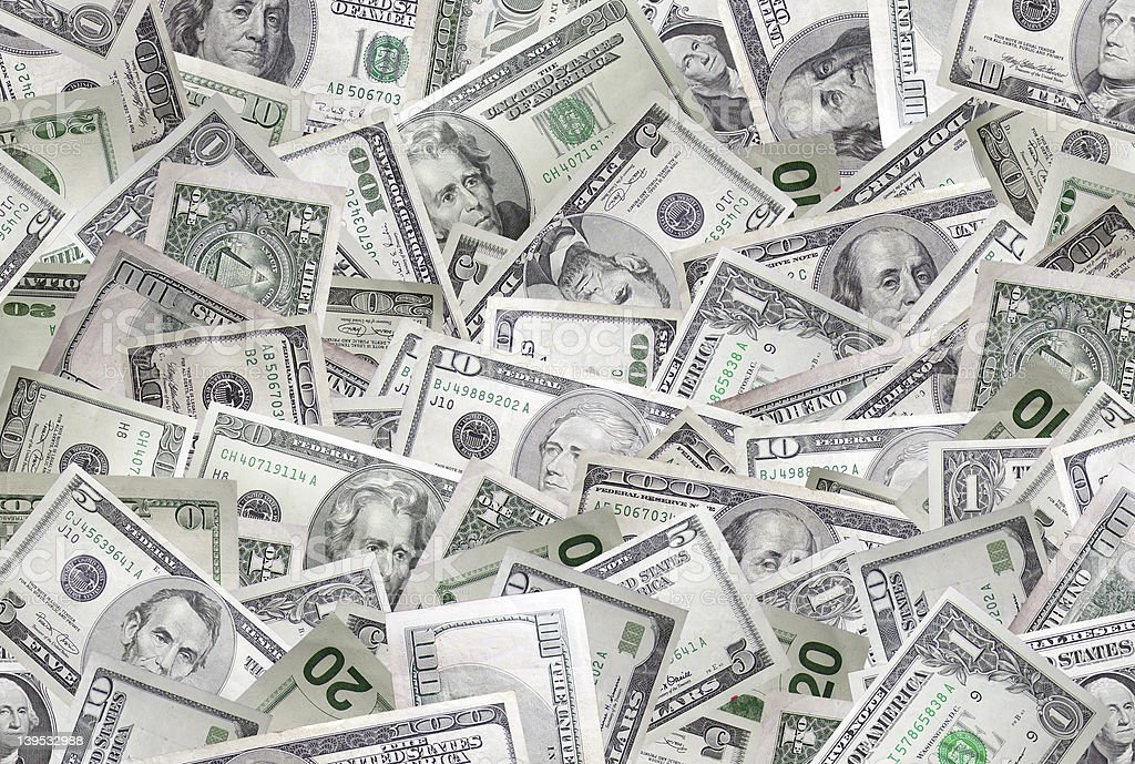 Money wallpaper (high-res) stock photo