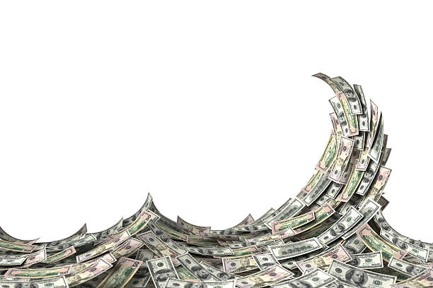 Money Wave stock photo