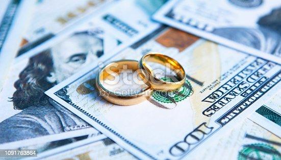 money wedding rings