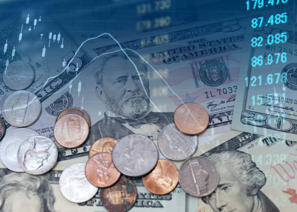 Money with chart can be used for financial concept Money with chart can be used for financial concept monetary policy stock pictures, royalty-free photos & images