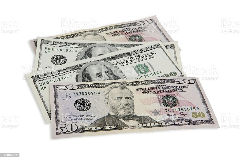 Money with Clipping Path stock photo