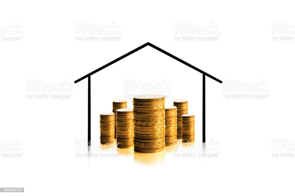 Money with house. stock photo