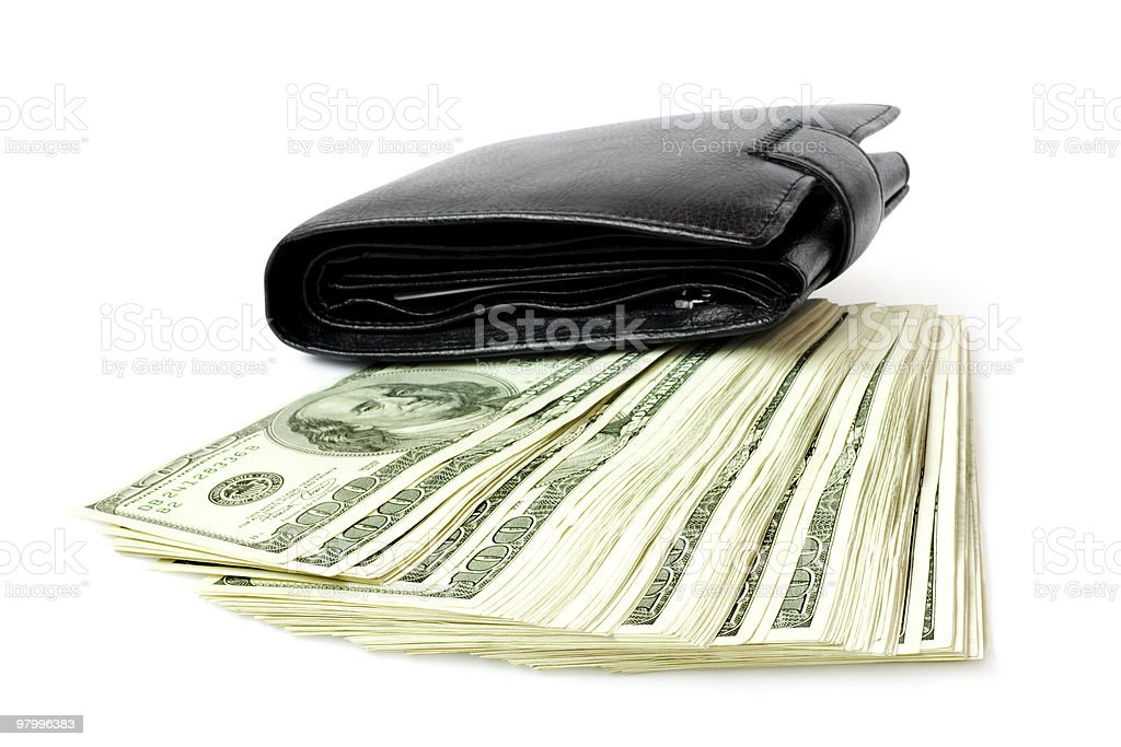 money with wallet royalty-free stock photo
