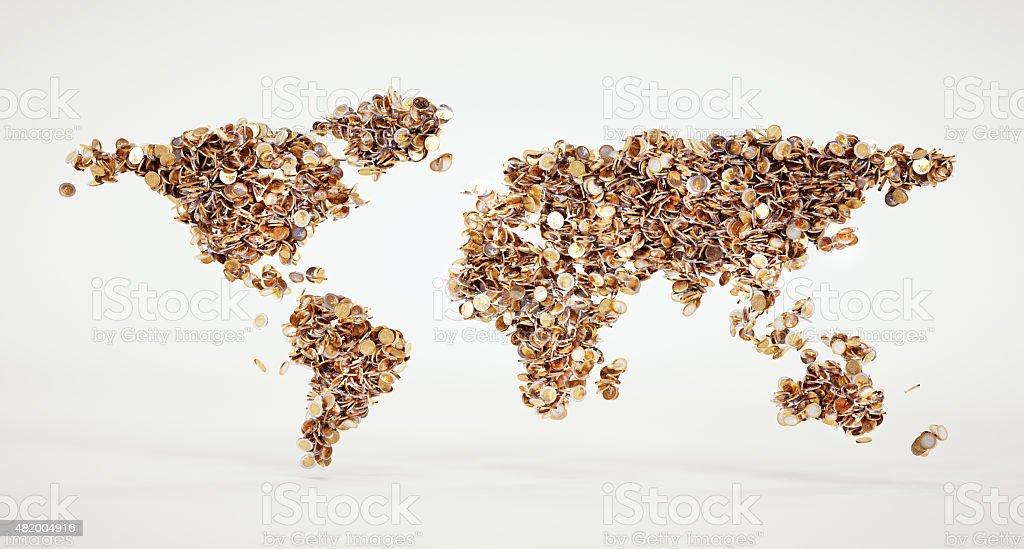 Money world sign stock photo