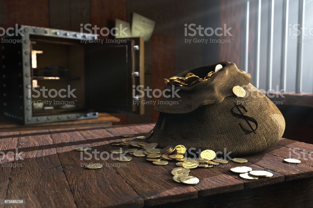Moneybag stock photo