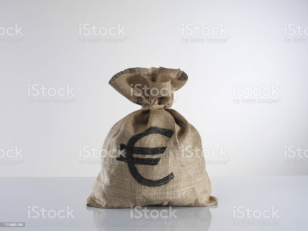 Moneybag With Euro Sign royalty-free stock photo