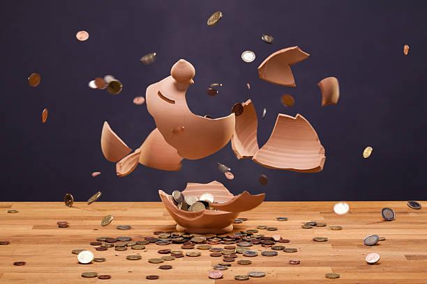 Moneybox Exploding stock photo