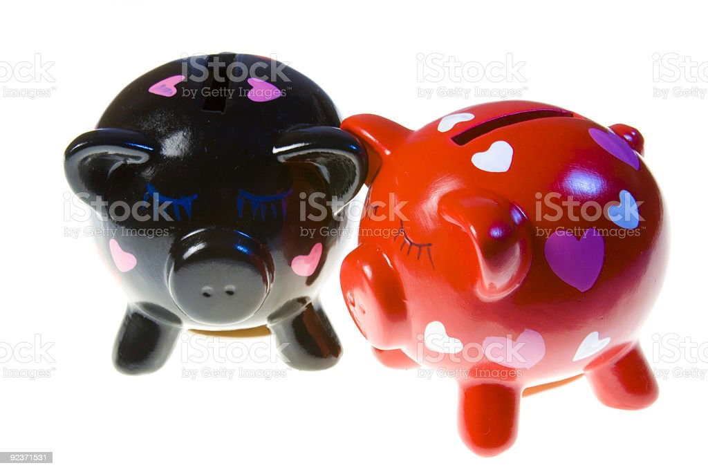 Moneyboxes royalty-free stock photo