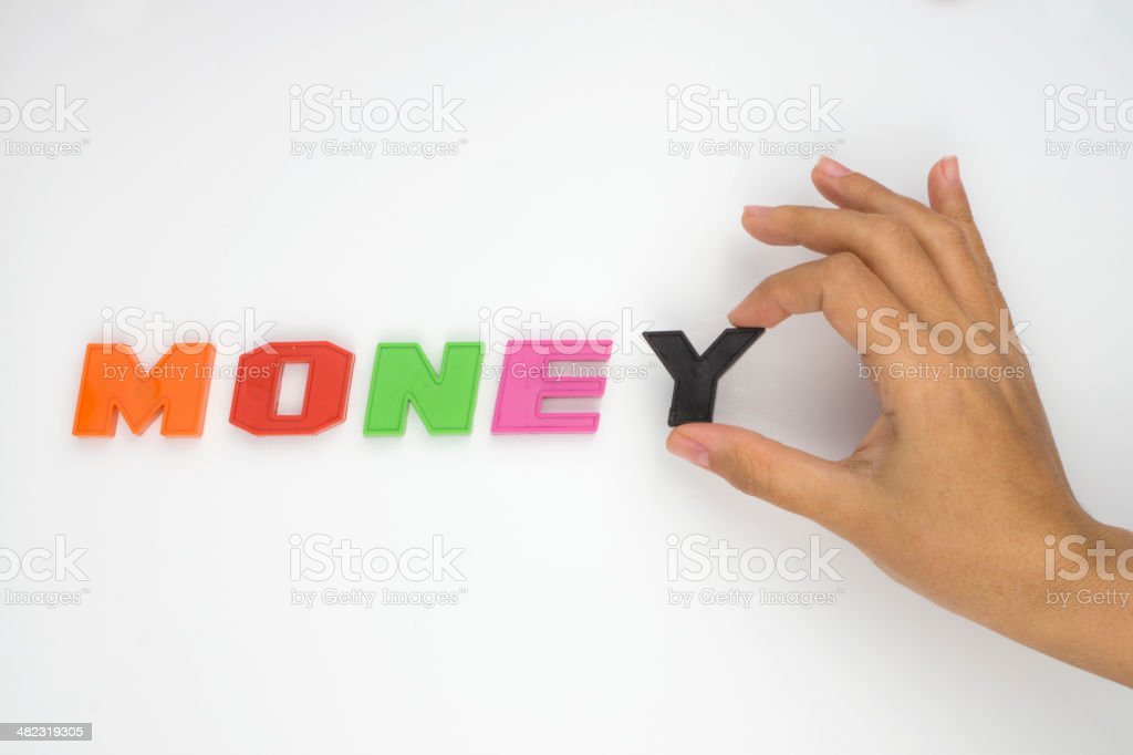 Money,Hand and word royalty-free stock photo